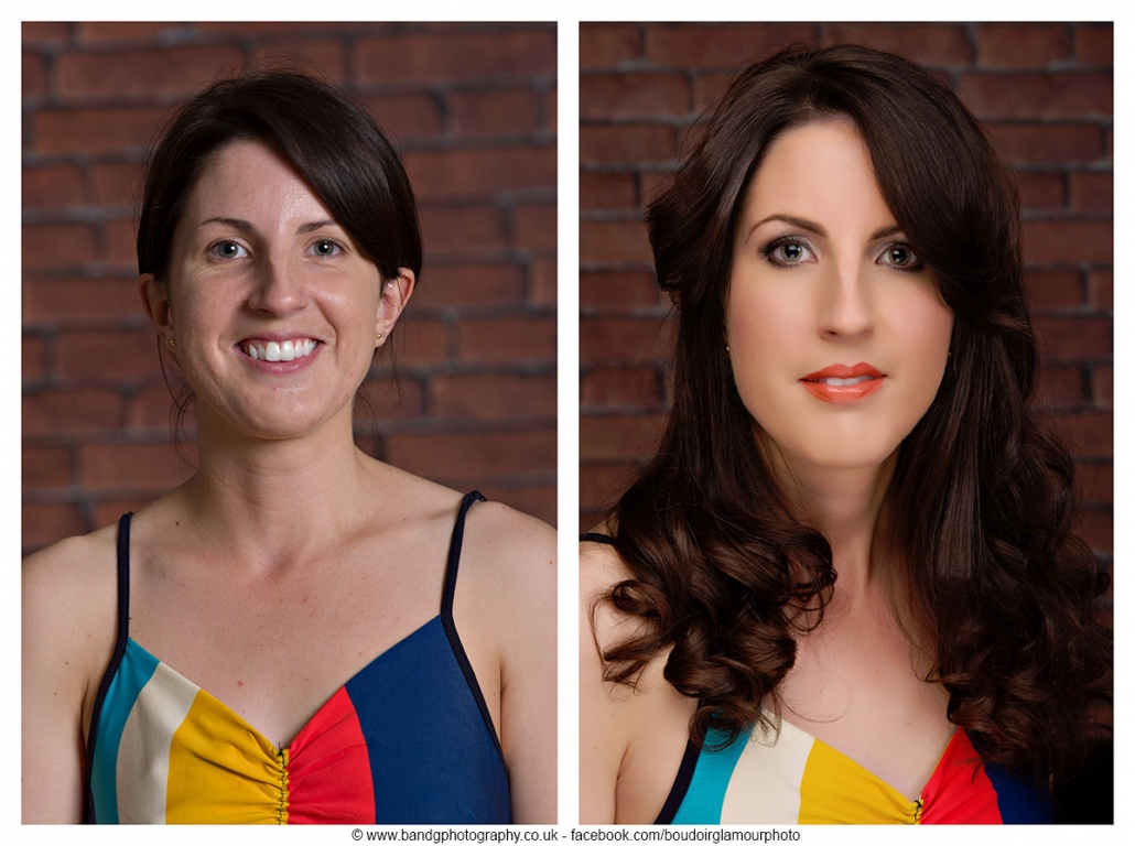 before and after make over photo