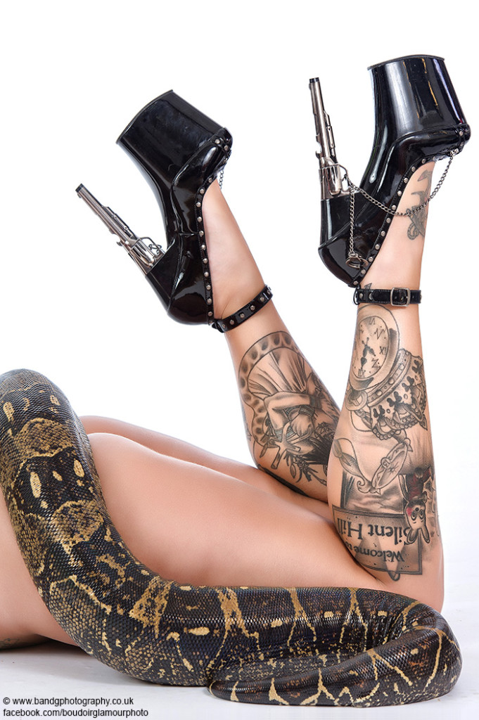 very sexy tattooed model