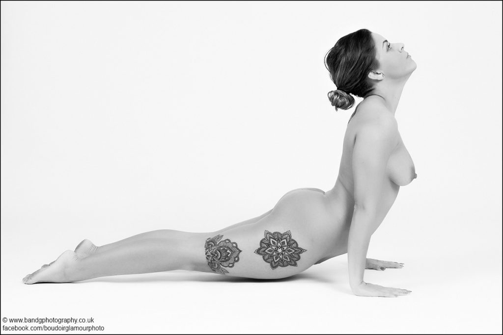 brunette nude yoga photo